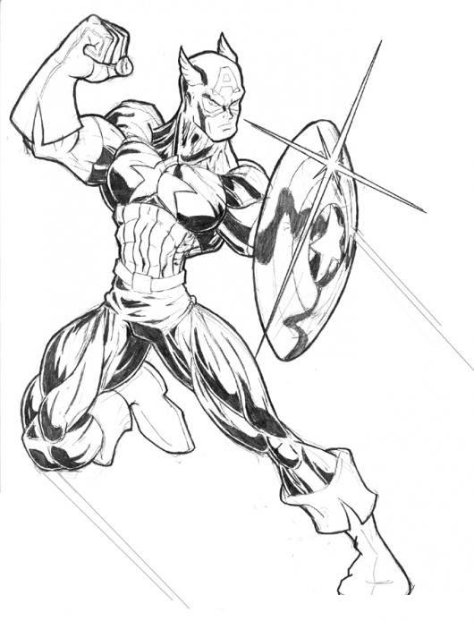 Colorear Capitan America Colorear Dibujos De Cholo Dibujo Para