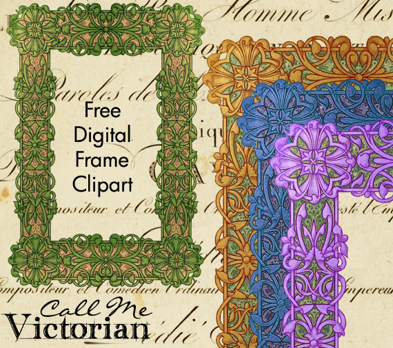 free digital frame clipart
