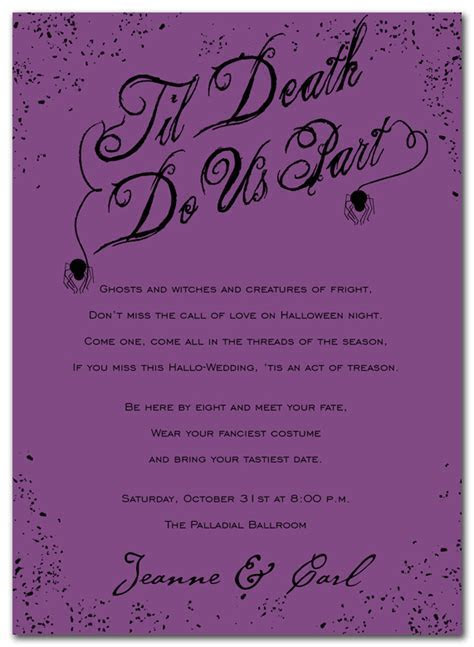 Til Death   Wedding Invitations by Invitation Consultants