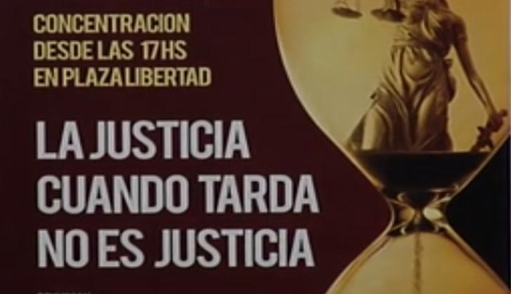 El próximo jueves 26 de octubre se realizará una concentración a la hora 17 en plaza Libertad.