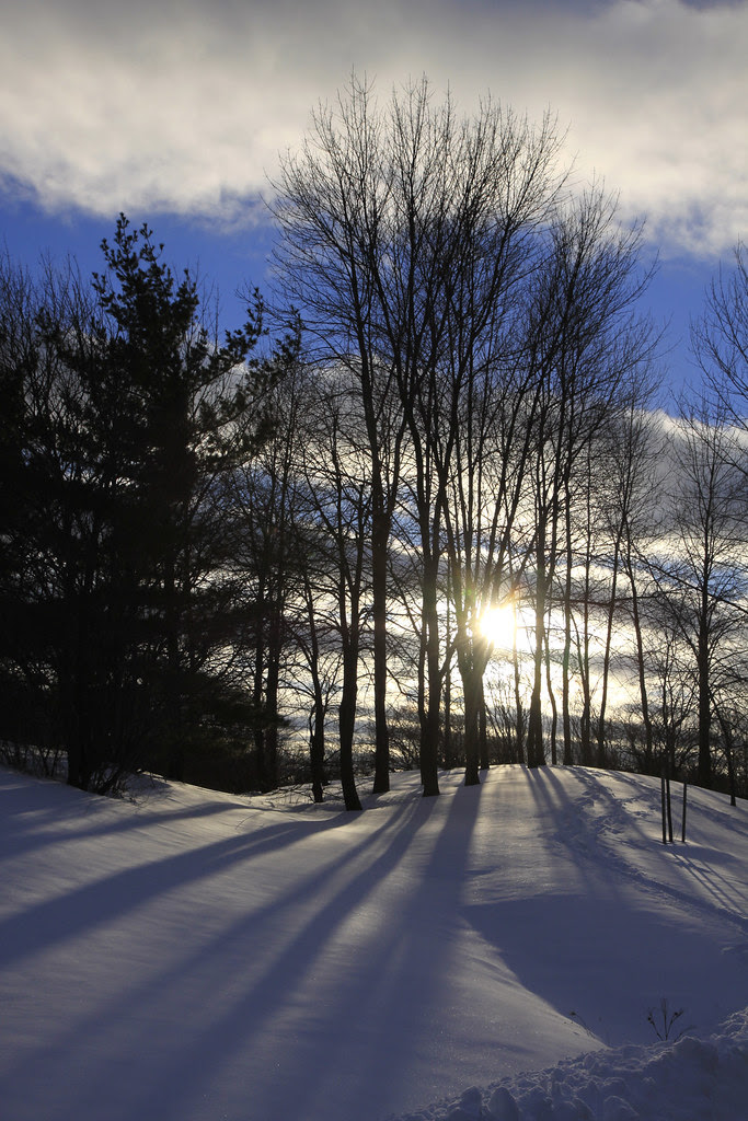 late sun first snow 2012