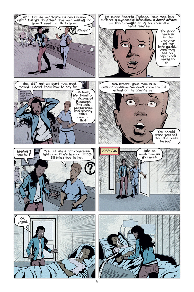 Wolf's Head Issue 4 Page 2 Written and Illustrated by Von Allan