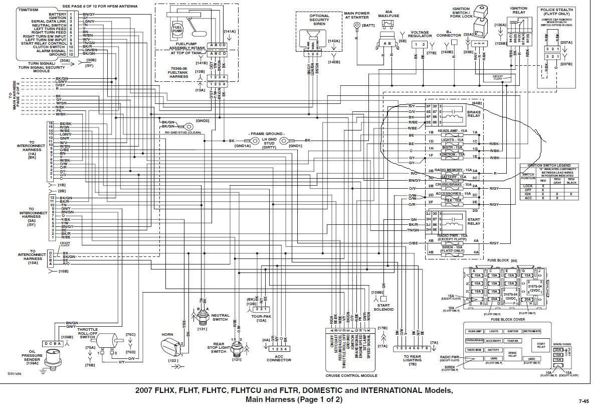 91 Softail Wiring Harnes Diagram