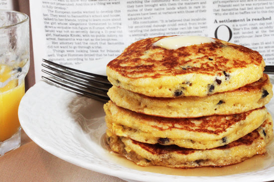 Post image for Cornmeal and Currant Pancakes & Paul Bunyan's Flapjacks