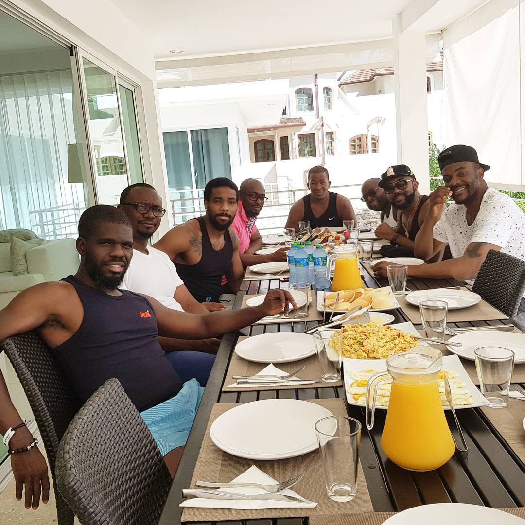 photos from Banky W bachelors trip to Punta Cana