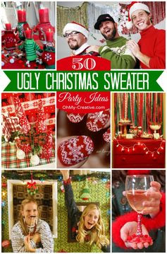 50 Ugly Christmas Sweater Party Ideas  |  OhMy-Creative.com