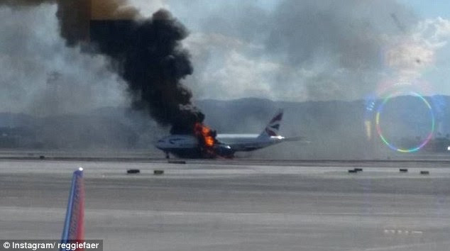 Terrified travelers on other flights captured the plumes of smoke coming from the Boeing 777