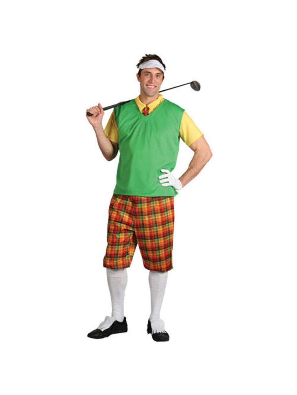 adult funny golf guy crazy golfer golfing fancy dress