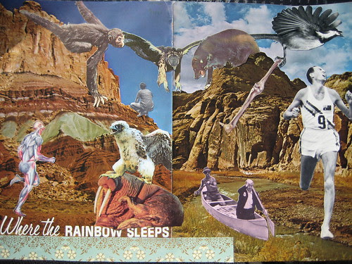 """& finished this: a new one with title built in """"Where the Rainbow Sleeps"""""""