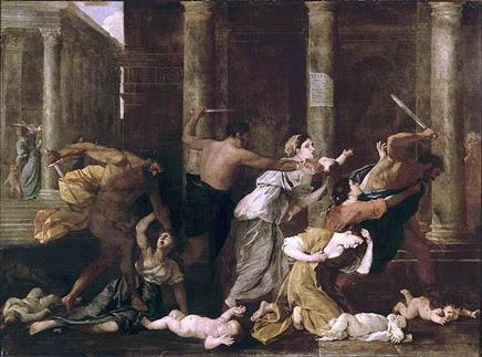 Resultado de imagen de la matanza de los inocentes poussin
