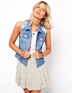 Oasis Lace Overlay Gilet
