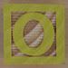 Wooden Brick Letter O