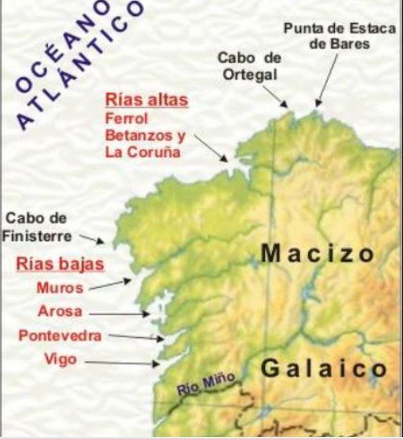 Estaca De Bares Mapa.Punta De Estaca De Bares Mapa Mapa