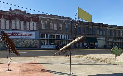 Julie Glass sculpture, Texas Ave, Shreveport by trudeau