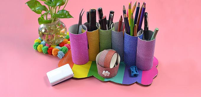 Pandahall Video Tutorial How To Make Toilet Paper Roll Pencil