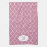 Monogram Cashmere Pink Quatrefoil Towels