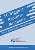 10 Biggest Resume Mistakes