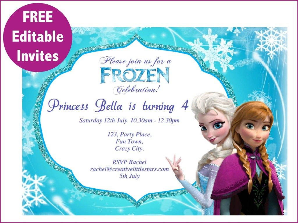 1000+ ideas about Free Frozen Invitations on Pinterest   Frozen ...