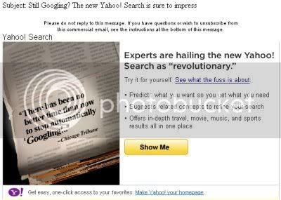 Yahoo: Still Googling?