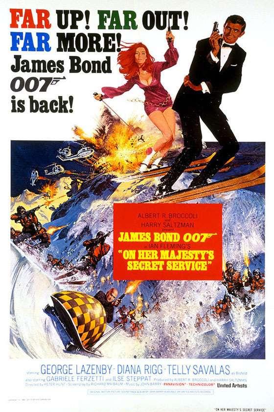 James Bond 007 On Her Majesty's Secret Service Poster