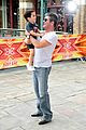 simon cowell brings son eric to x factor london photo call 01