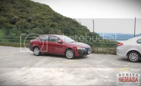 Red Proton Waja 2 Lancer Spotted in Genting