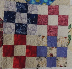 Quilting Detail - small 9-patch blocks
