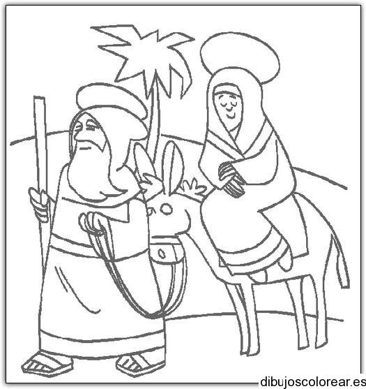 Dibujo De Maria Y Jose Camino A Belen