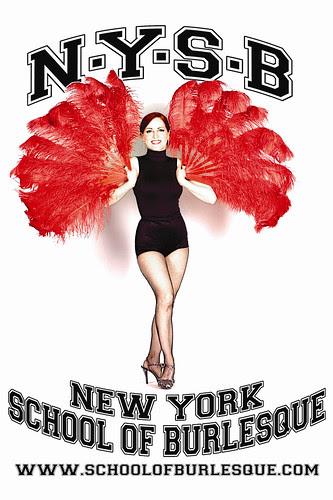 The New York School of Burlesque Flyer