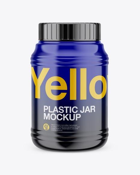 Free Glossy Plastic Protein Jar Mockups