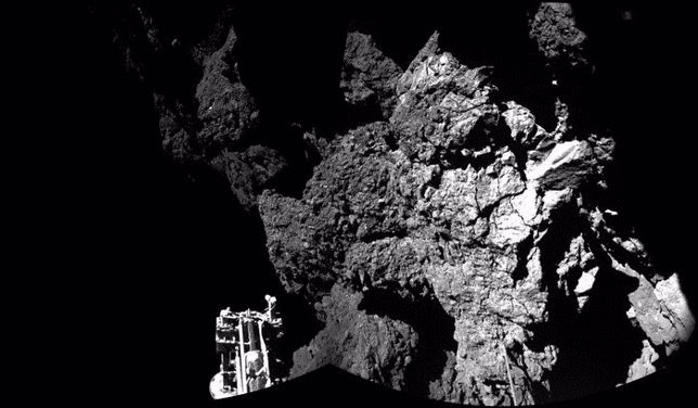 Imagen de Philae en el suelo del cometa