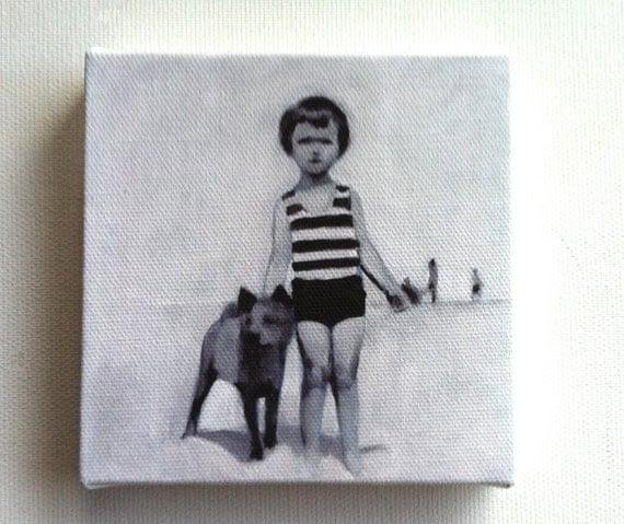 summer day / tiny canvas  print
