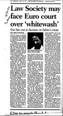 Scotsman 9 September 1997 Law Society may face Euro Court over whitewash
