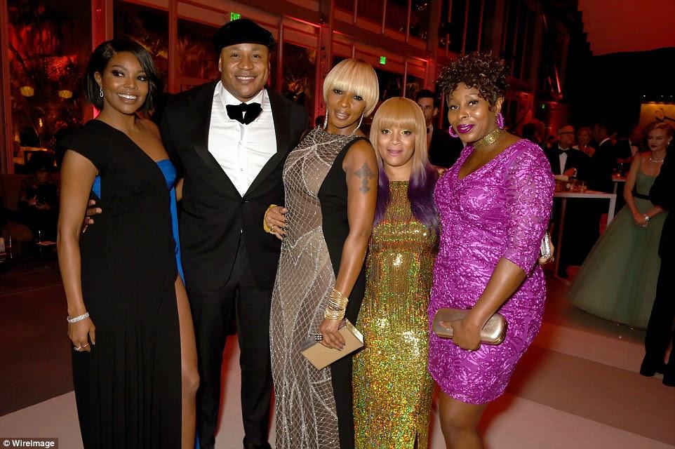 Todas as estrelas: Gabrielle se juntou a estrelas, incluindo LL Cool J, Mary J. Blige e Simone Smith