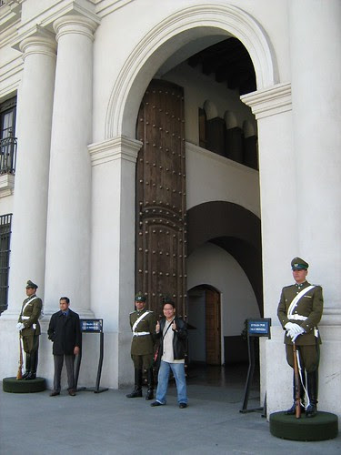 Entrance of the La Moneda Presidential Palace