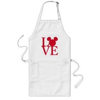 Mickey Mouse LOVE | Valentine's Day Long Apron