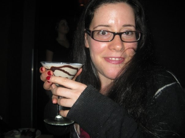 At the 40/40 Club with my chocolate martini