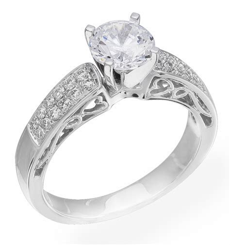 Engagement Ring on Sale! Custom Design White Gold set With