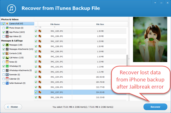 How to Restore iPhone Data from Backup after Jailbreak