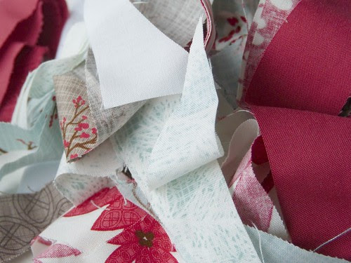 winter's lane quilt scraps