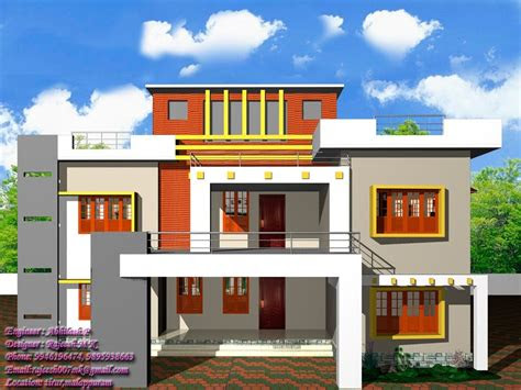 awesome simple exterior house designs  kerala image