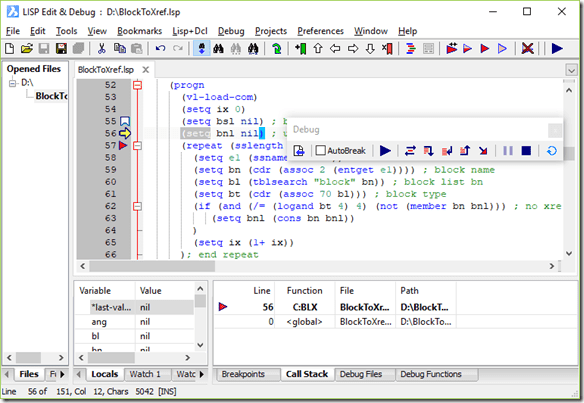 BricsCAD LISP Advanced Development Environment (BLADE)
