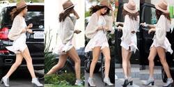 Selena Gomez Minivestido Al Aire