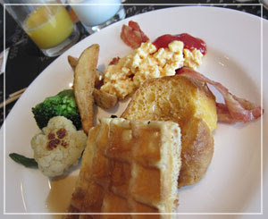 「ヨコハマグランドインターコンチネンタルホテル」のブッフェ朝御飯