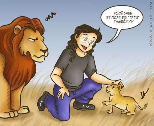Ricbit visita o Lions Park em Joanesburgo, Africa do Sul, ilustração by ila fox