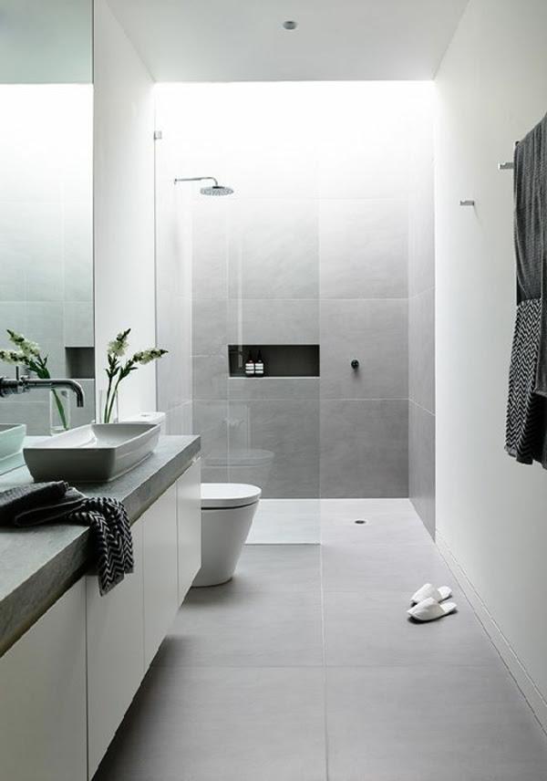 Modernes Badezimmer Verschiedene m\u00f6gliche Stile f\u00fcrs