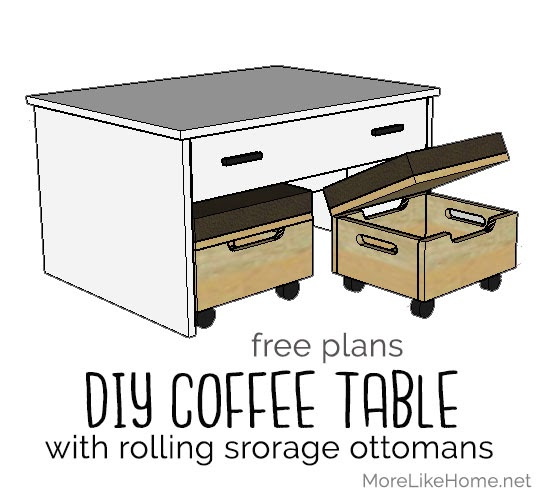 More Like Home Coffee Table With Nesting Storage Ottomans Day 7