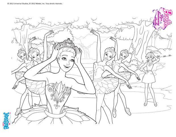 Coloriages Barbie Rêve De Danseuse Etoile 30 Coloriages Barbie