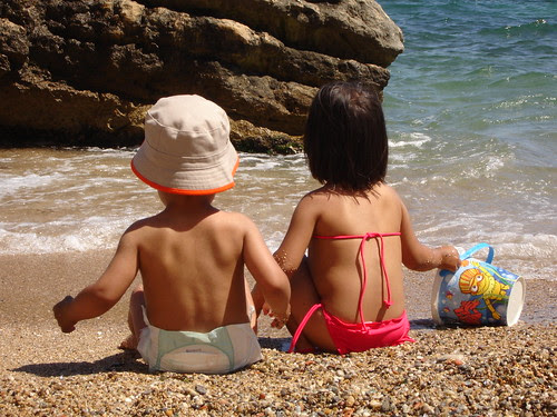 Enfants sur la plage - L'Escala