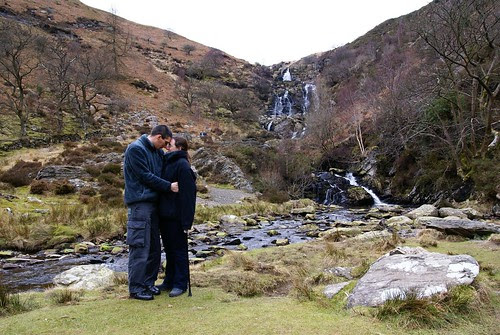 me and Steve, standing cuddled up together in front of beautiful scenery